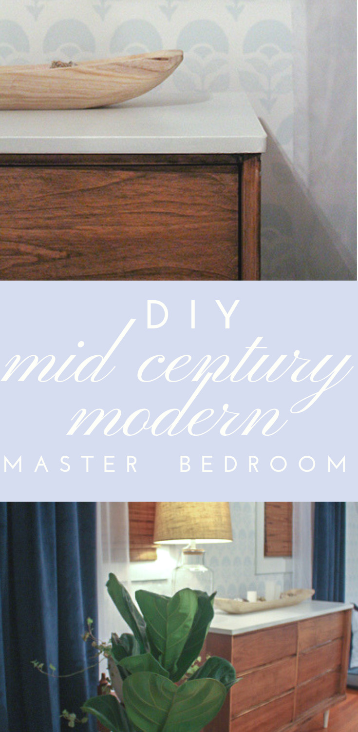 mid century modern diy master bedroom #masterbedroom #midcenturymodern #moderndesign #diyfurniture