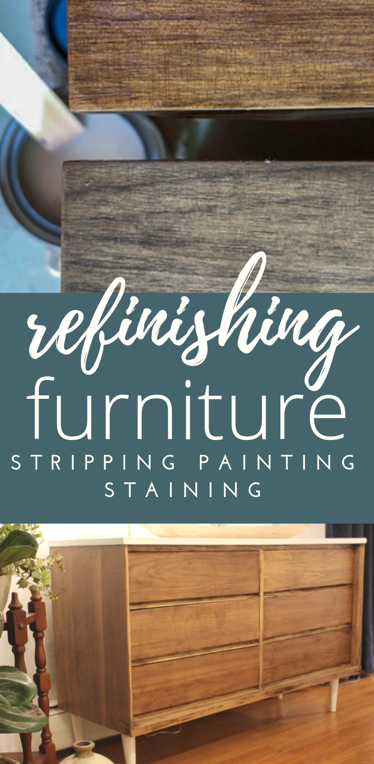 DIY furniture refinishing is simple with these easy steps DIY #furniturerefinishing #DIY #paintedfurniture
