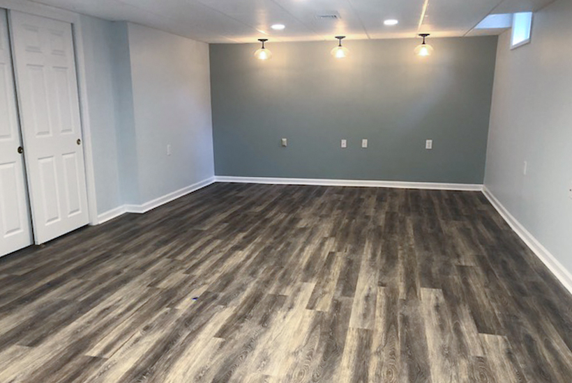 creating a modern basement renovation with accent paint colors