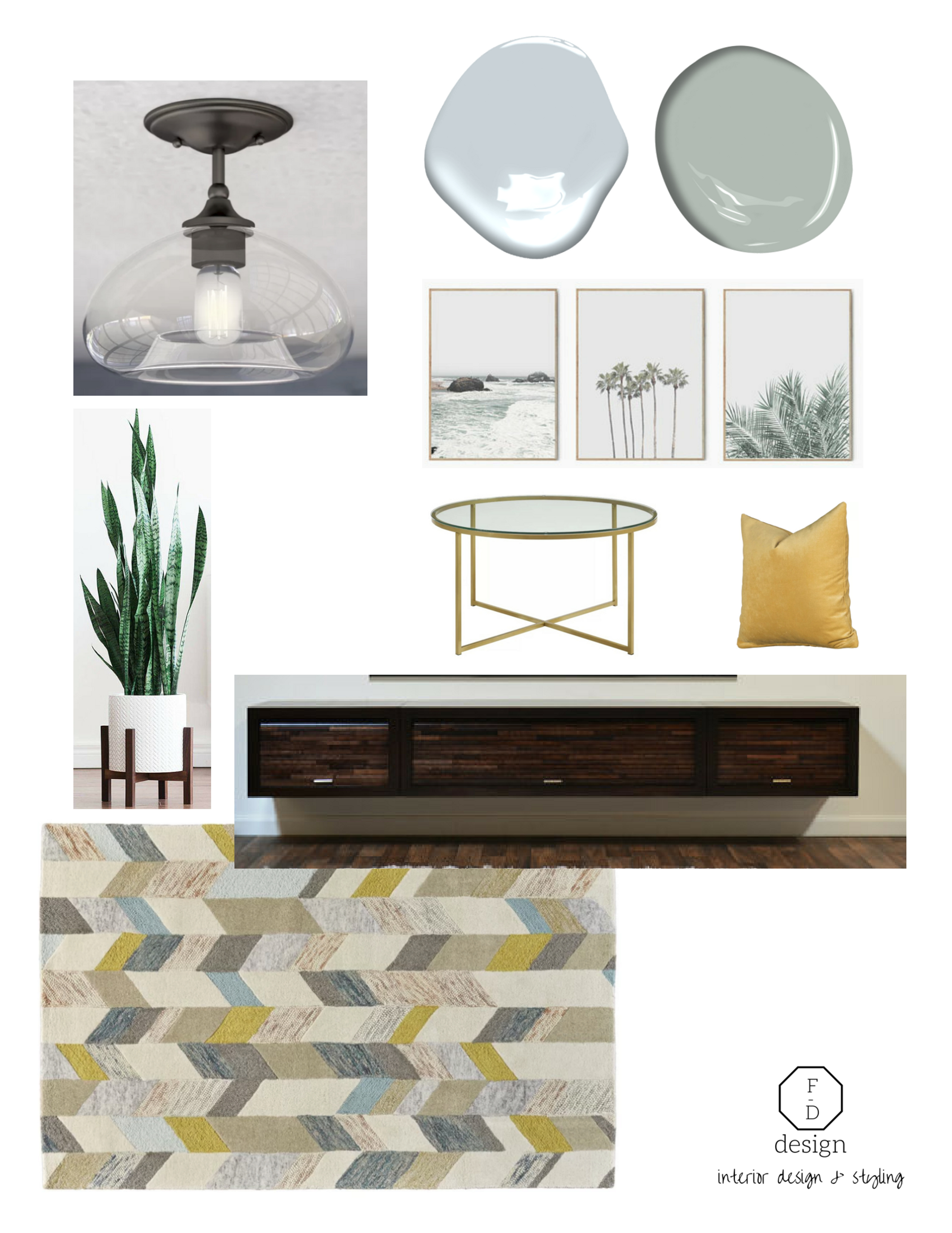 creating a modern basement renovation mood board