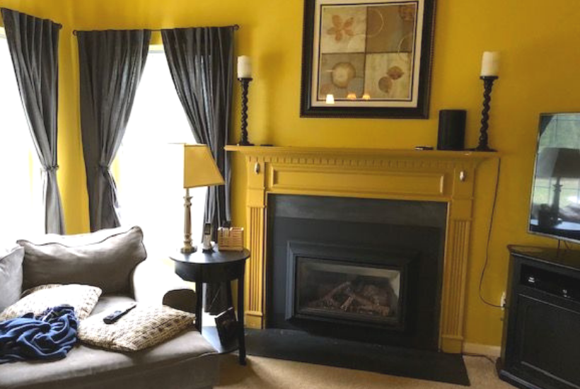 fireplace mantel renovation #fireplace #mantel
