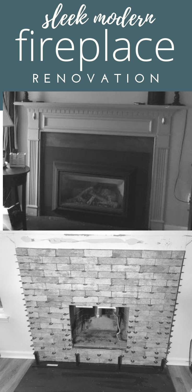 Simlistic modern fireplace design and renovation #fireplace #mantle #renovation