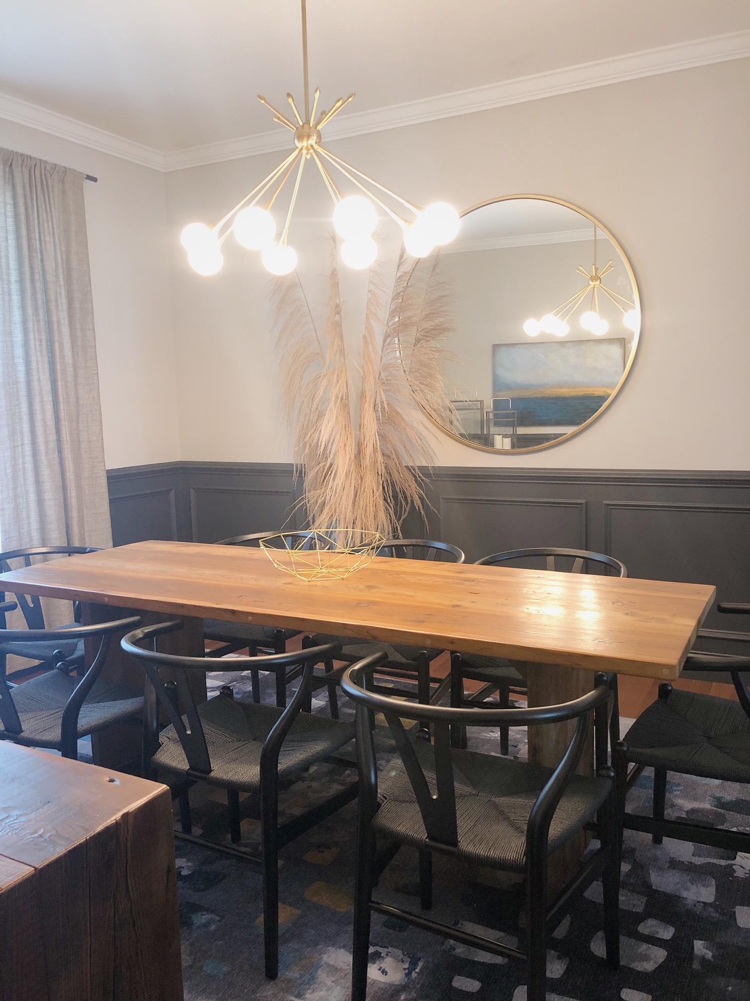 dining room renovation lehigh valley interior designer