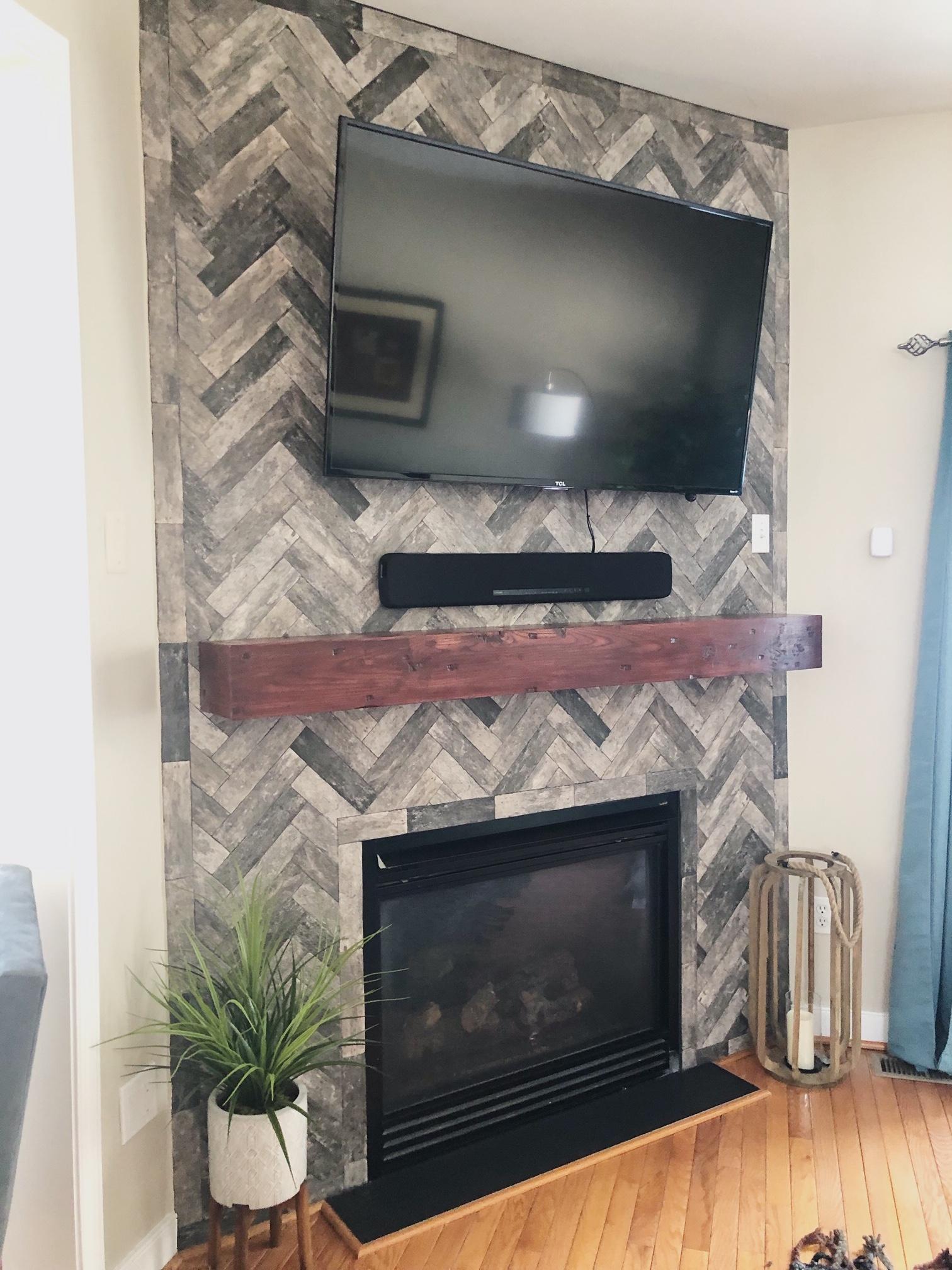 fire place renovation lehigh valley interior designer