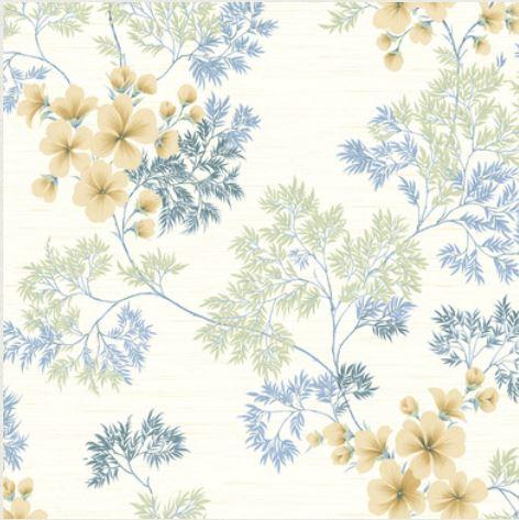 blue floral wallpaper fddesign emmaus pa jaime bassett