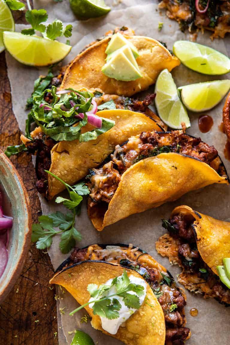 crispy chicken tacos half baked harvest